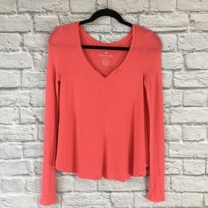 American Eagle Soft & Sexy Waffle Knit Top Size XS